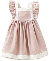 Edgehill Collection Little Girls 2T-4T Linen Flutter-Sleeve Dress