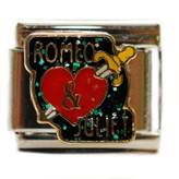 SEXY SPARKLES Romeo and Juliet Italian Bracelet Charm Link