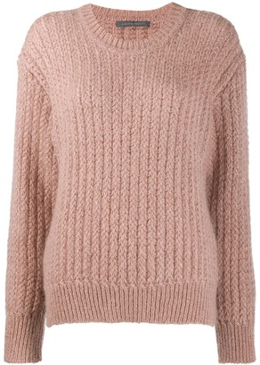 Alberta Ferretti Ribbed Knit Sweater