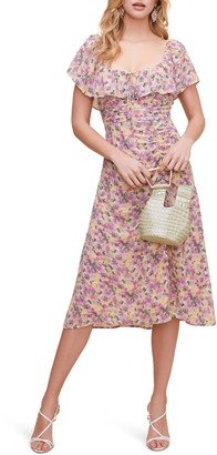 ASTR the Label Ruffle Yoke Ruched Dress