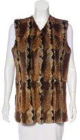 Fendi Fur Button-Up Vest