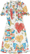 Gucci Corsage print cotton dress - women - Cotton - 40