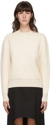 Alexander McQueen Off-White Quilted Knit Sweater