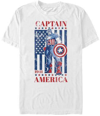 Fifth Sun American Flag Mens Crew Neck Short Sleeve Captain America Graphic T-Shirt