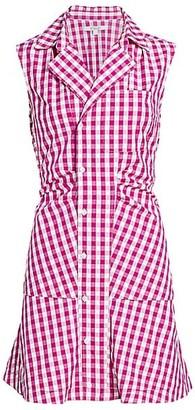 Derek Lam 10 Crosby Satina Gingham Shirt Dress