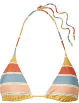 Vix Guadalupe Striped Triangle Bikini Top - Sky blue