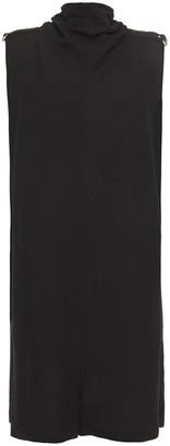 Rick Owens Tie-neck Wool-blend Crepe Playsuit