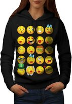 Emoticon Cool Joke Funny Love Text Life Women S Hoodie | Wellcoda