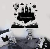 Wallstickers4you Vinyl Wall Decal Imagination Kids Room Book Fantasy Castle Stickers (ig4275)