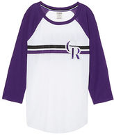 PINK Colorado Rockies Bling Perfect Baseball Tee