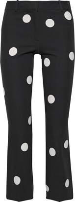Derek Lam 10 Crosby Cropped Polka-dot Cotton-blend Bootcut Pants