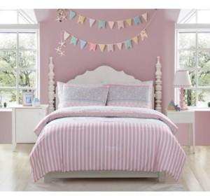 Morgan Home Mhf Home Kids Ellie Striped Twin Comforter Set Bedding