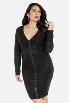 Fashion to Figure Evita Glitter Knit Dress