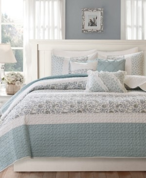 Madison Home USA Dawn 6-Pc. Quilted Full/Queen Coverlet Set Bedding