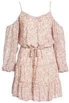 Paige Women's Cristiana Cold Shoulder Silk Dress
