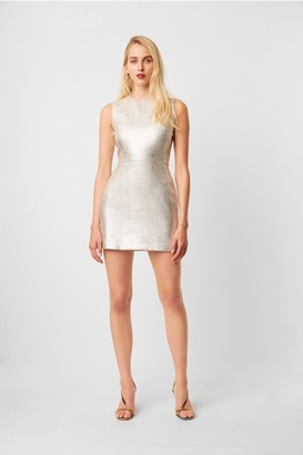 French Connection Metallic Sundae Shape Sleeveless Dress