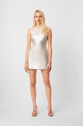 French Connection Metallic Sundae Shape Sleeveless Dress