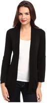 Splendid 1x1 Ribbed Tab Sleeve Cardi Wrap Women's Sweater