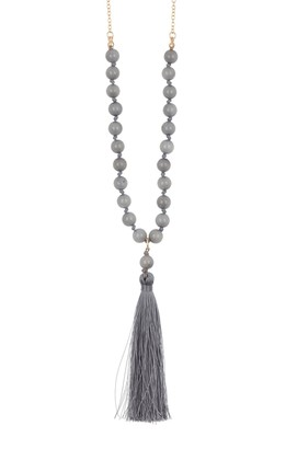 Melrose and Market Bead & Chain Tassel Necklace