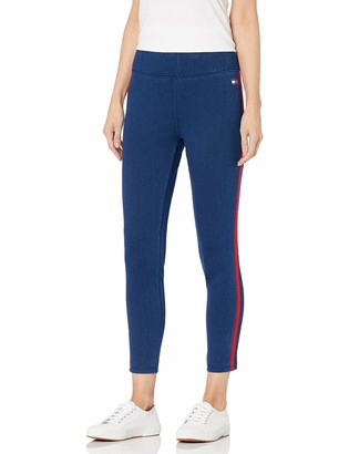 Tommy Hilfiger Women's High Rise Full Length Stretch Legging with Side Stripe