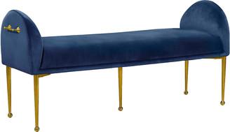 Verlaine Owen Navy Velvet Bench