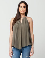 Others Follow Keyhole Womens Top