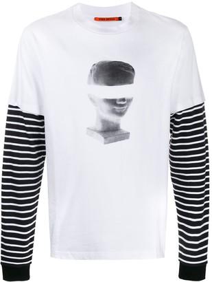 Vyner Articles Spray-print layered T-shirt