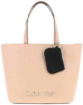 Calvin Klein Shoulder Bag Bag In Eco-leather With Metal Logo