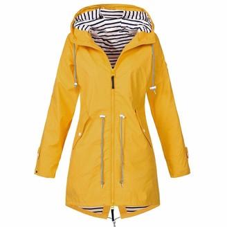 DOMBX Women's Oversized Long Sleeve Raincoat Waterproof Windproof Coat Jacket Outwear Cardigan Womens Casual Fashion Zipper Up Loose Fit Warm Hooded Hoodie Sweatshirt Pullover Jumper with Pockets