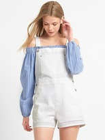 Denim eyelet shortalls