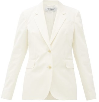 Gabriela Hearst Sophie Single-breasted Cotton Jacket - Womens - Ivory