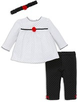 Little Me Infant Girls' Dot Tunic, Leggings & Headband Set - Sizes 3-12 Months