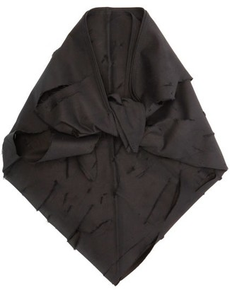 Art School Distressed Cotton Headscarf - Black