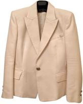 Balmain Ecru Cotton Jacket