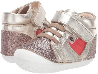 Old Soles My-Heart Pave (Infant/Toddler) (Glam Chocolate/Bright Red) Girl's Shoes