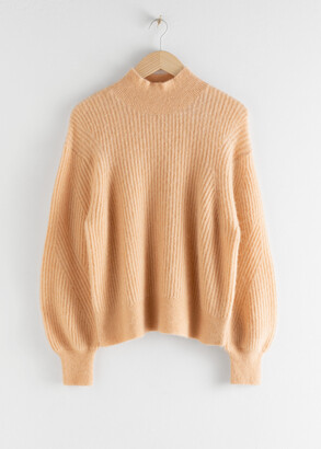 And other stories Wool Blend Ribbed Knit Sweater