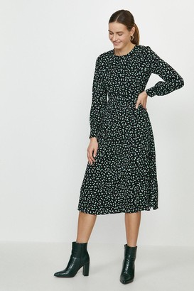 Coast Long Sleeve Fit And Flare Dress