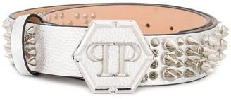 Philipp Plein Studded Metallic Belt