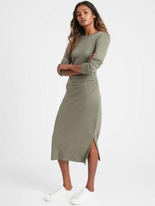 Banana Republic Petite Luxespun Side-Ruched Dress