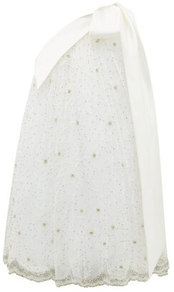 Richard Quinn One-shoulder Crystal-embellished Tulle Dress - Ivory