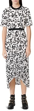 Maje Rosyla Abstract Print Midi Dress