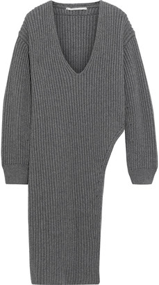 Stella McCartney Asymmetric Ribbed Cashmere And Wool-blend Tunic