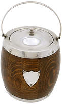One Kings Lane Vintage English Oak Ice Bucket