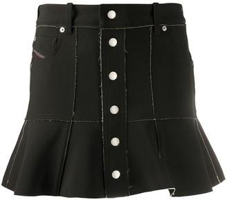 Diesel Two-Tone Bonded Skirt