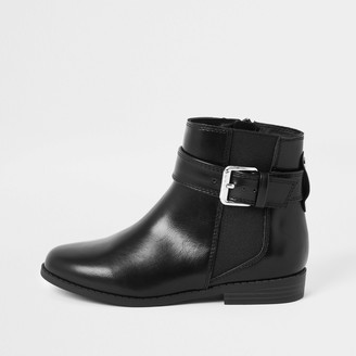 River Island Girls Black buckle boots