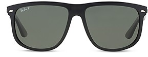 Ray-Ban Unisex Polarized Boyfriend Square Sunglasses, 60mm