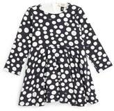 Armani Junior Infant Girl's Polka Dot Jersey Dress