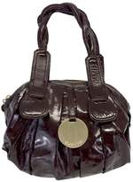 Gustto Brown Patent Leather Cala Bag