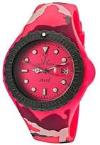 Toy Watch Women's Jelly Pink Dial Pink Camouflage Silicone