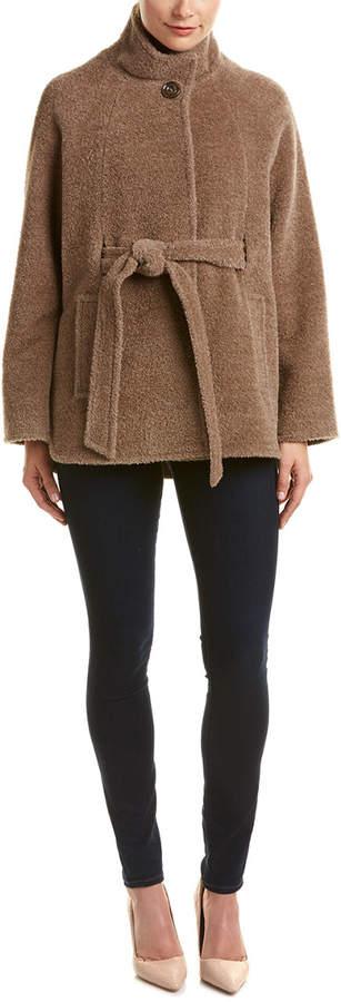 Cinzia Rocca Icons Wool & Alpaca-Blend Wrap Poncho